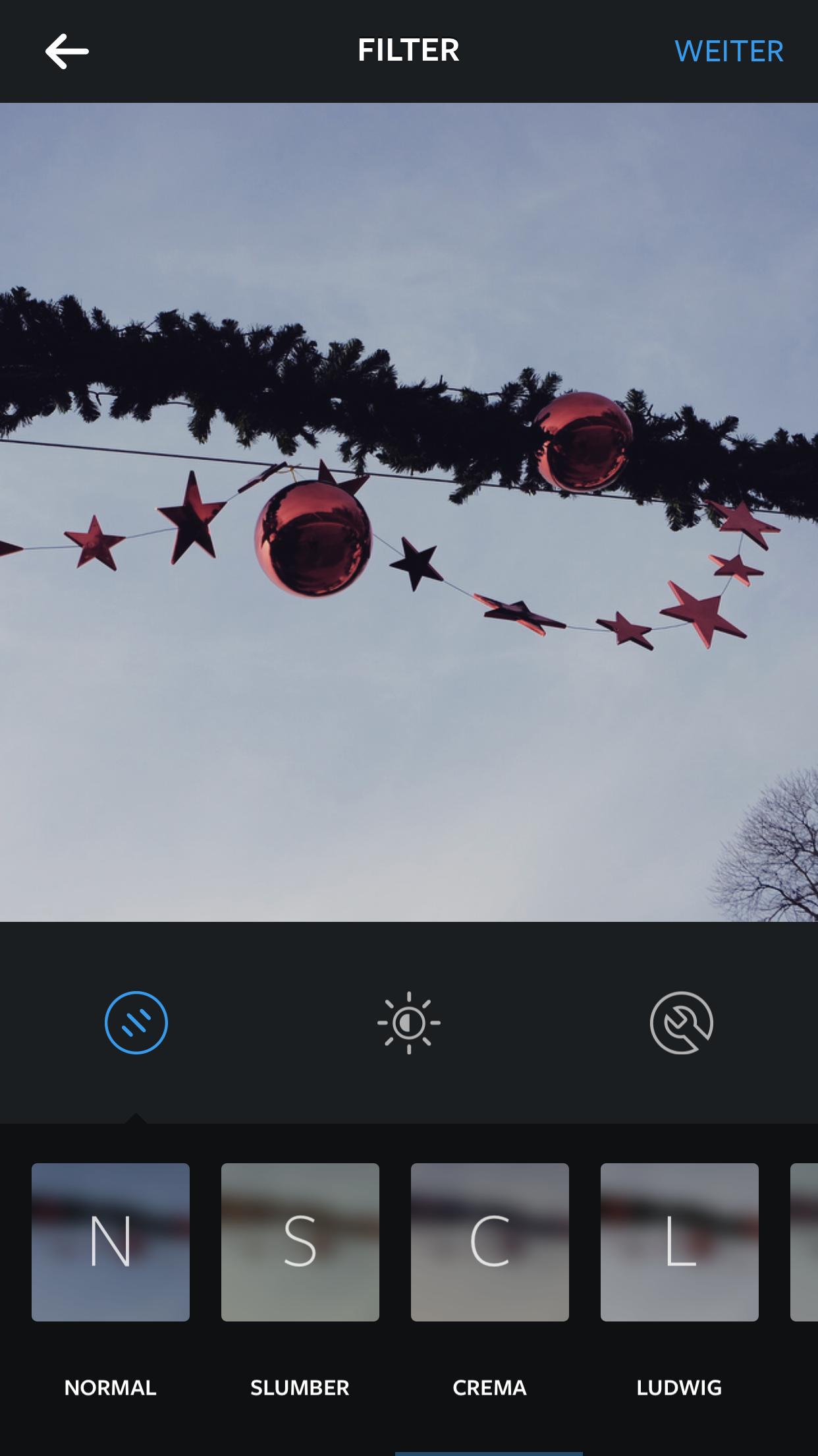 Instagram Filter Crema