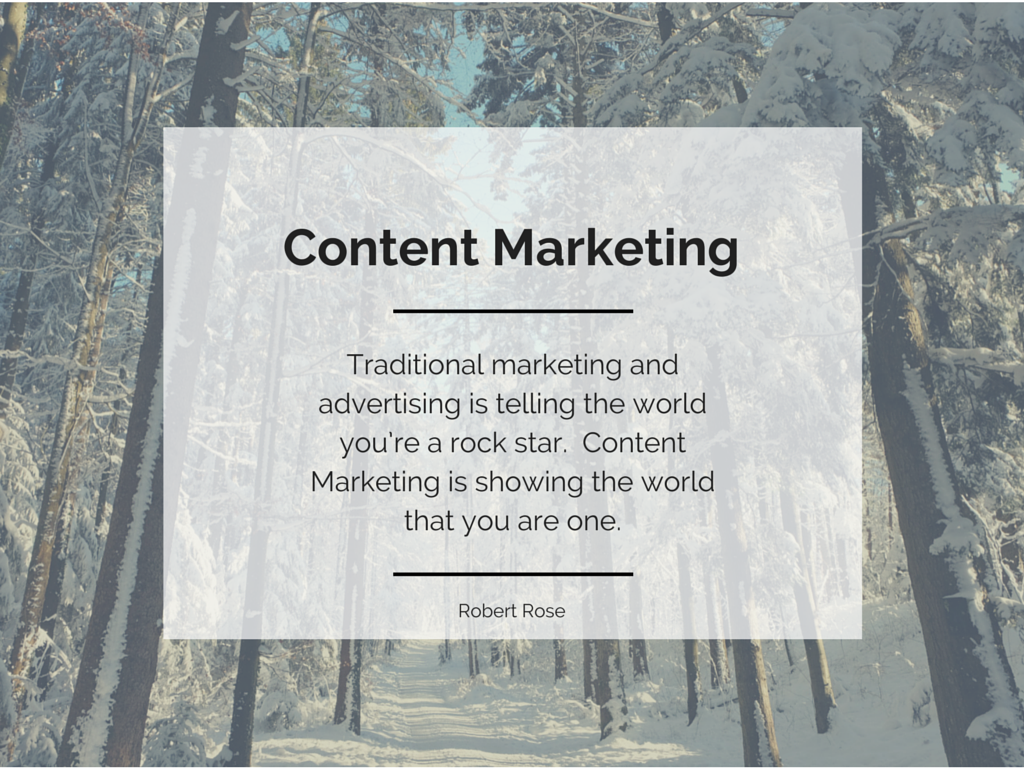 Definition Content Marketing Institute - Robert Rose