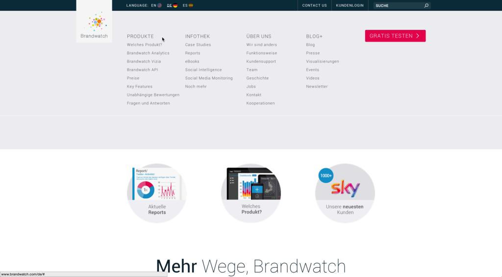 Brandwatch Webseite