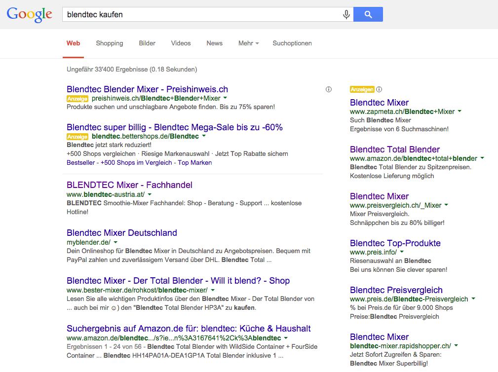 Blendtec Google Suche