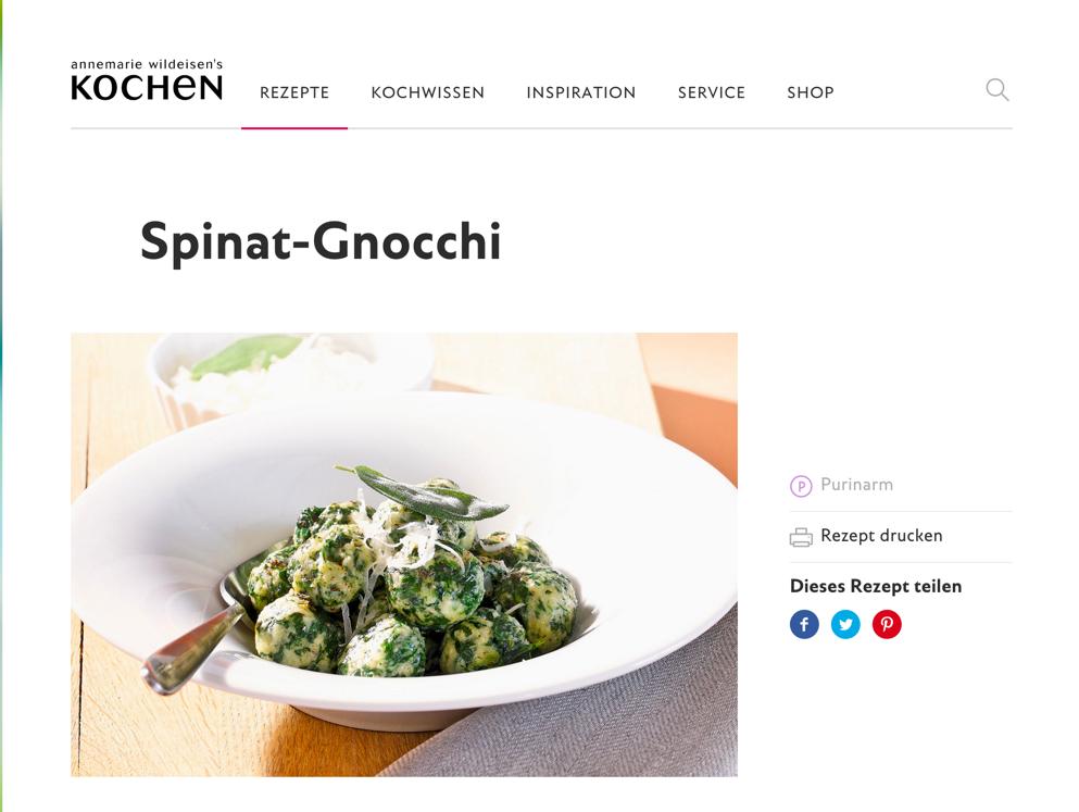 Spinat-Gnocchi Rezept von Annemarie Wildeisen