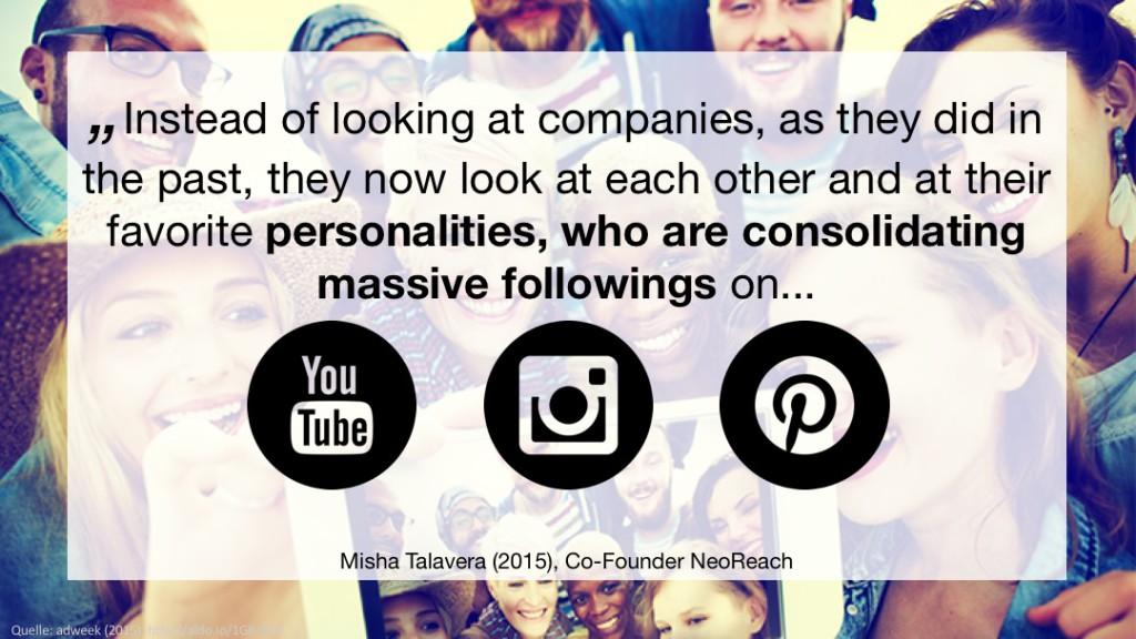 Weshalb Visual Storytelling und Influencer Marketing? Ein Unternehmen kann eigene Geschichten erzählen oder diese durch andere - Influencer - erzählen lassen. Influencer haben meist viele Follower, eine grosse Reichweite und machen keine Werbung sondern erzählen die Geschichte des Unternehmens auf ein sympathische Art und erreichen damit die Zielgruppe auf einer persönlichen Ebene.