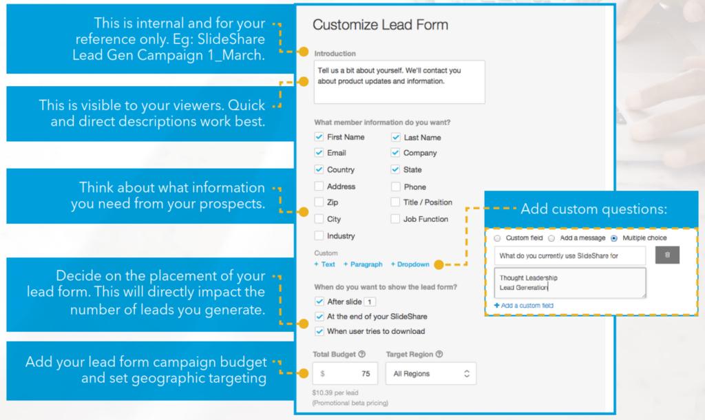 Slideshare Lead Generation Formular